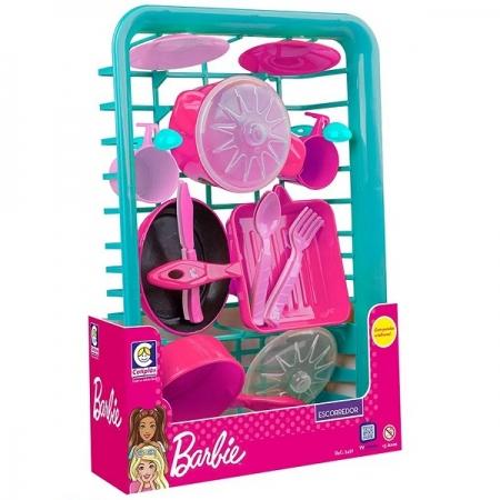 Escorredor de Louças Infantil Barbie CHEFF Cotiplas 2491