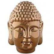 Escultura Buda Dourado em Ceramica MART 12998