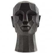 Escultura Cabeça Preta em Poliresina MART 12779