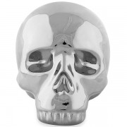 Escultura Cranio Prata em Ceramica MART 12995