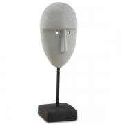Escultura Decorativa 35CM Face em Cimento MART 12281