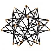 Escultura Decorativo em Metal Preto 16CM MART 13012
