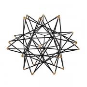 Escultura Decorativo em Metal Preto 22CM MART 13011