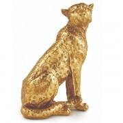 Escultura Leopardo em Poliresina MART 12442
