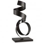 Escultura Preta em Metal MART 10970