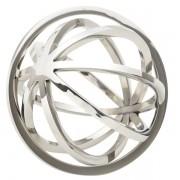 Esfera Decorativa de AÇO INOX 11 X 9,5 CM  CM Prata LYOR 1129