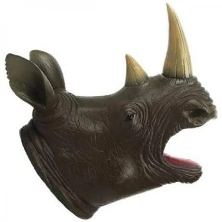 Fantoche Cabeça de Animais Selvagens Rinoceronte TOYNG 41953
