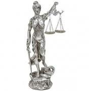 Figura Decorativa Dama da Justica Prata Espressione 239-105