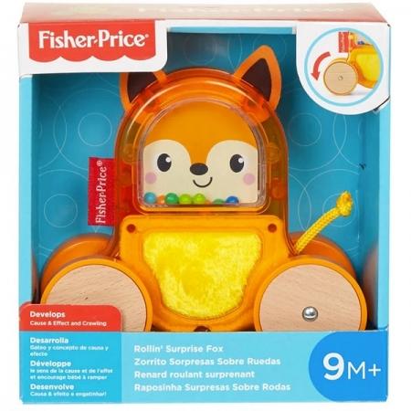 Fisher Price Bichinho Surpresa Sobre Rodas Raposinha Mattel GML83
