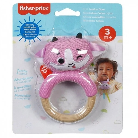 Fisher Price Chocalho Tricotado Cabra Mattel GRR03