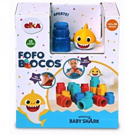 Fofo Blocos 15 Peças BABY SHARK ELKA 1132