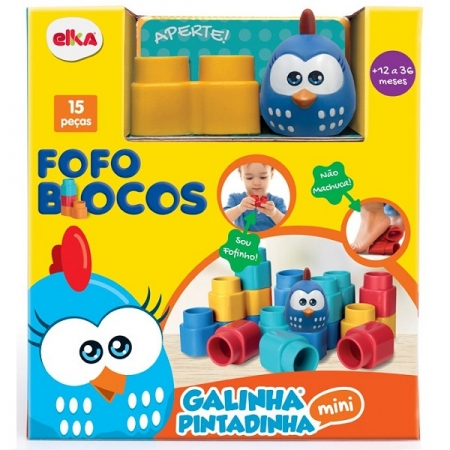 Fofo Blocos 15 Peças Galinha Pintadinha ELKA 1047