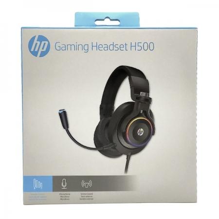 Fone com Microfone Gamer Stereo 1 P2+USB H500 Preto HP