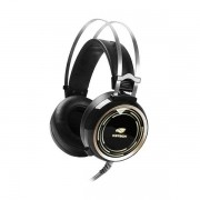 Fone de Ouvido com Microfone C3 TECH Gamer BLACK Kite Preto PH-G310BK