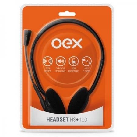 Fone de Ouvido com Microfone Headset HS100 OEX