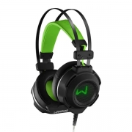 Fone de Ouvido Headset Warrior ARCO USB P2 Preto e Verde Multilaser PH225