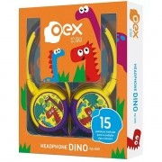 Fone de Ouvido Infantil Fones Giratorios Dino 85DB OEX KIDS HP300