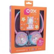 Fone de Ouvido Infantil Fones Giratorios Unicornio OEX KIDS HP304