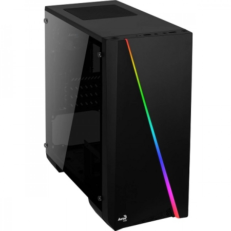 Gabinete Gamer Mini Tower RGB Mini CYLON Preto Aerocool 67546
