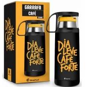 Garrafa Termica com Caneca Dia Leve Cafe Forte 350ML Brasfoot 10155