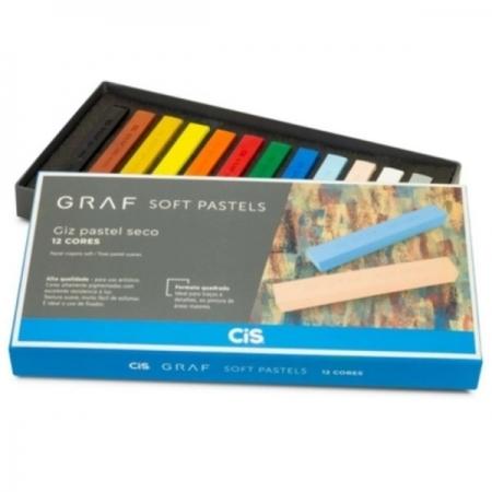 Giz Seco GRAF SOFT Pastel 12 Cores CIS 70.2900
