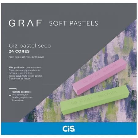 Giz Seco GRAF SOFT Pastel 24 Cores CIS 70.3200