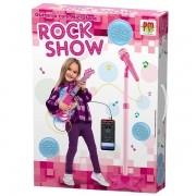 Guitarra com Microfone Rosa ROCK SHOW DM TOYS DMT5893