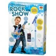 Guitarra com Microfone AZUL ROCK SHOW DM TOYS DMT5894