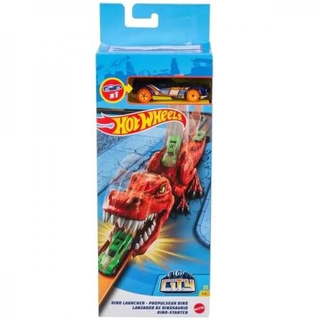 Hot Wheels CITY Lançador Nemesis Dinossauro Lançador Mattel GVF41