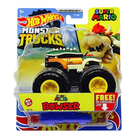 Hot Wheels Monster TRUCKS Super Mario Bowser Mattel FYJ44