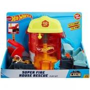 Hot Wheels Pista Super Quartel dos Bombeiros Mattel FNB15