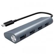 Hub Superlead USBC P 4 Portas USB 31 Comtac 9339