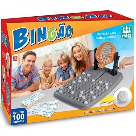 Jogo Bingao com 100 Cartelas NIG 1050