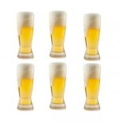 Jogo de Copos para Cerveja Catarinense 6 Peças em Cristal Ecologico 210ML Bohemia 58367