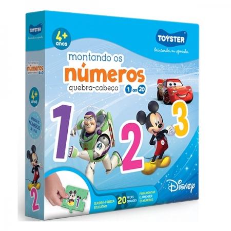 Jogo Disney Montando os Numeros 1 AO 20 Toyster 2790