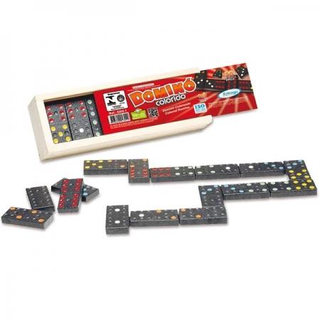 Jogo Domino de Madeira - Pingos Coloridos Xalingo 5302.1