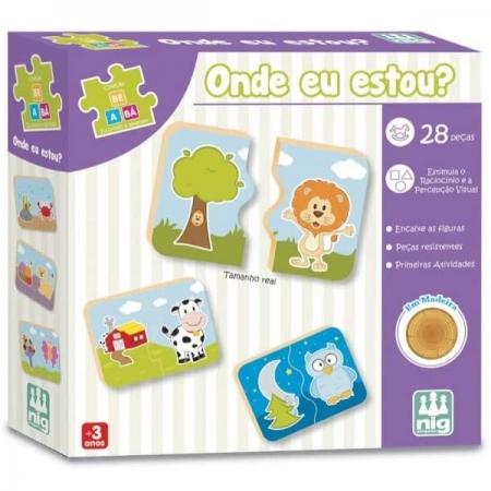 Jogo Educativo Madeira ONDE EU Estou? NIG Brinquedos 0412
