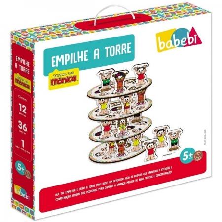 Jogo Empilhe a Torre Turma da Monica Babebi 6057