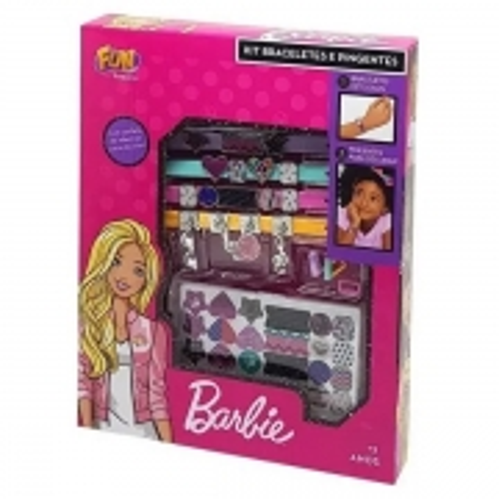 Kit Braceletes e Pingentes Barbie FUN F0027-9