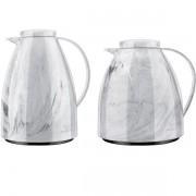 Kit Bule Viena 400ML + 750ML Marmore Branco Carrara Invicta
