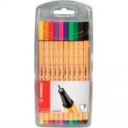 Kit Caneta Point 88 Fineliner 0,4MM 10 Cores Stabilo