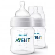 Kit com 2 Mamadeiras ANTI-COLIC Classica 125ML Philips AVENT SCF810/27