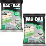 Kit com 2 Sacos À Vácuo VAC BAG Ordene EXTRA Grande 80X100 Edredom