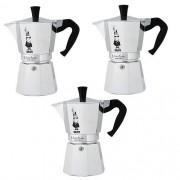Kit com 3 Cafeteiras Nuova Moka EXPRESS Bialetti 10010006