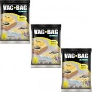 Kit com 3 Sacos a Vacuo VAC BAG Ordene Medio 45X65 Protetor Roupas