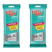 Kit com 40 Panos Esfrebom Wipes Desinfetante Bettanin BT46120