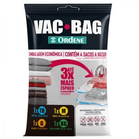 Kit com 4 Sacos a Vacuo 4 Tamanhos VAC BAG Ordene OR56400