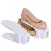 Kit com 6 Organizadores para Sapato Branco Ordene OR62511
