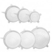 Kit Tampas de Silicone com 6 Transparente Unyhome SU191301