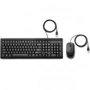 Kit Teclado e Mouse com Fio USB 160 HP 6HD76AA